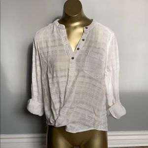 Hollister Textured Cotton Popover Shirt